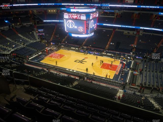 Capital One Arena Section 419 view