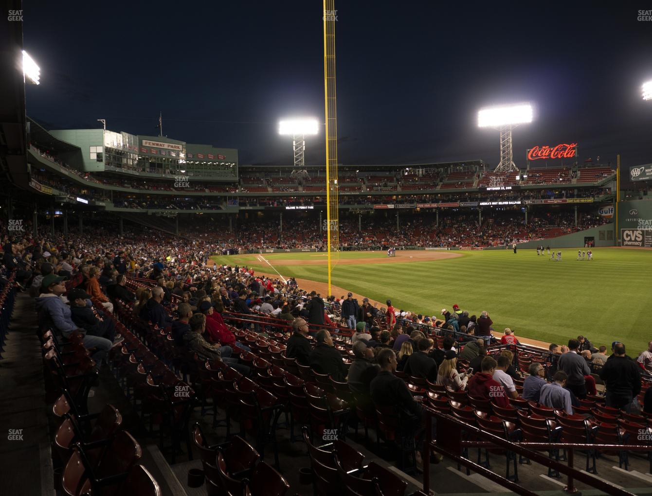 Boston Red Sox at Fenway Park Right Field Box 91 View