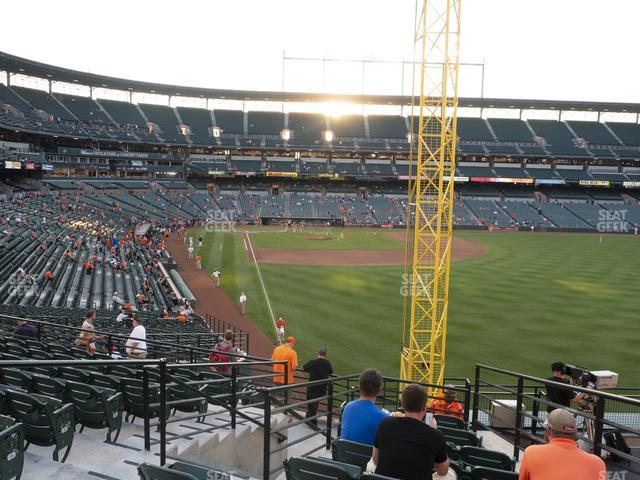 Oriole Park at Camden Yards Section 1 view