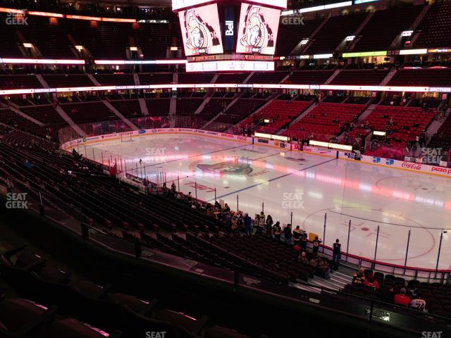 Canadian Tire Centre Section 219 view