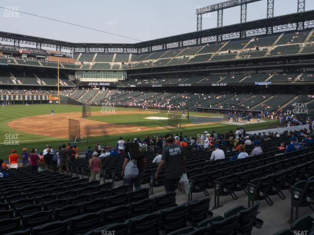 Coors Field Section 142 view