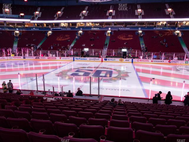 Rogers Arena Section 105 view