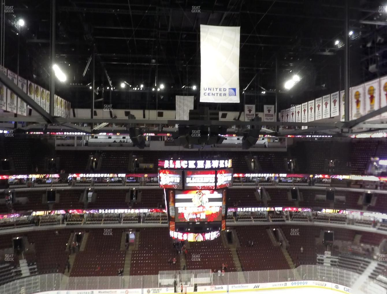 Chicago Blackhawks at United Center Section 301 View