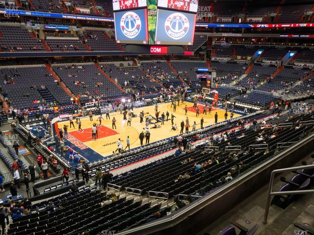 Capital One Arena Section 212 view