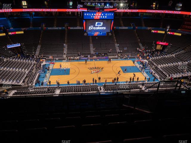 Chesapeake Energy Arena Section 309 view