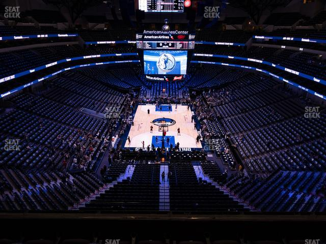 American Airlines Center Section 318 view