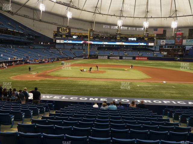 Tropicana Field Section 114 view