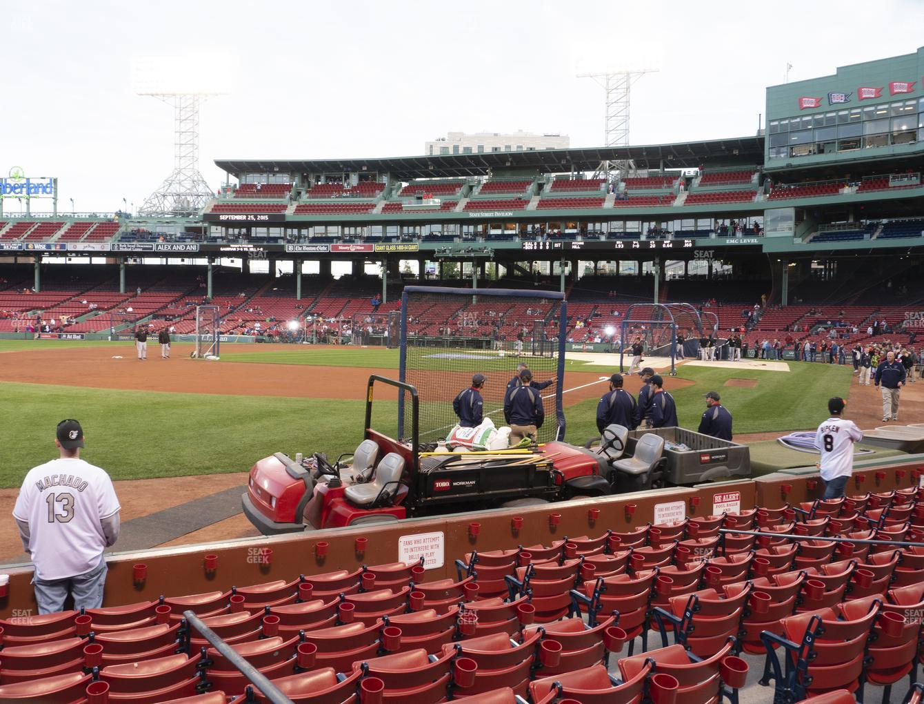 Boston Red Sox at Fenway Park Field Box 79 View