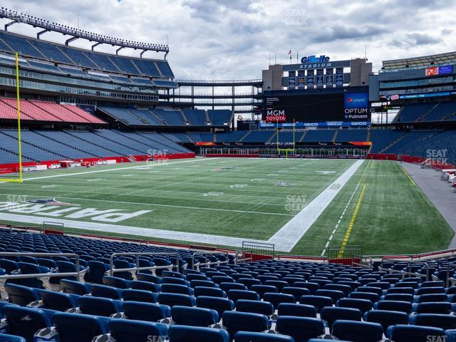 Gillette Stadium Section 140 view
