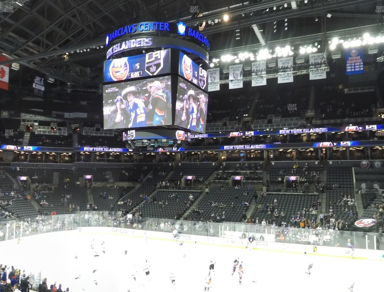 New York Islanders at Barclays Center Section 106 View