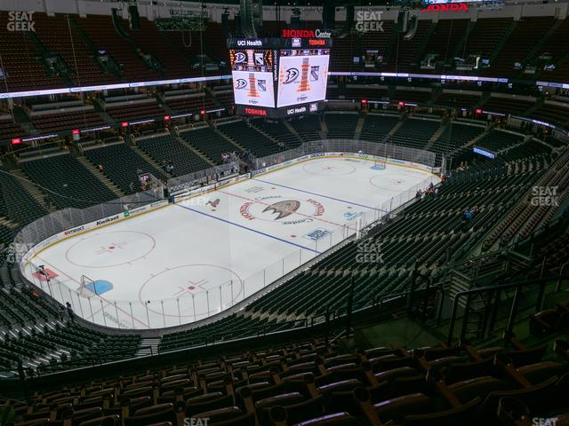 Honda Center Section 439 view
