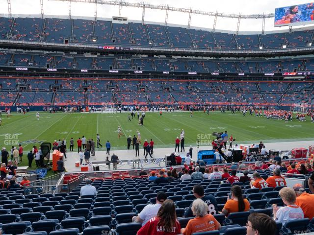 Empower Field at Mile High Section 124 view
