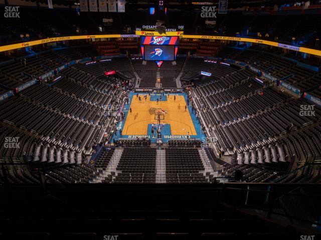 Chesapeake Energy Arena Section 316 view
