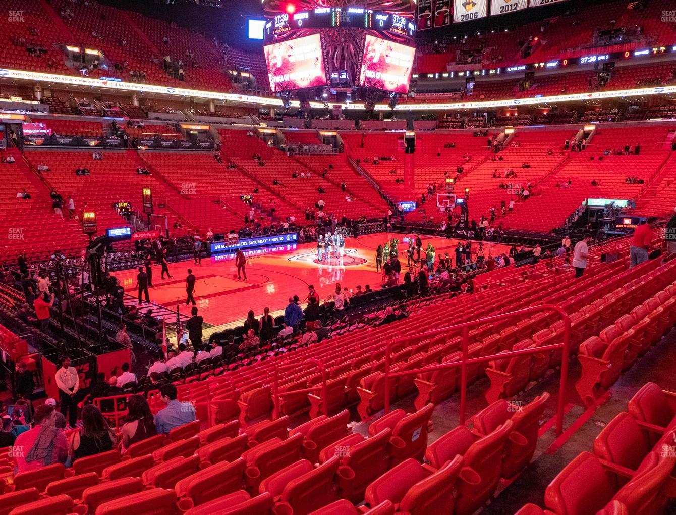 american airlines arena section 121 seat views   seatgeek