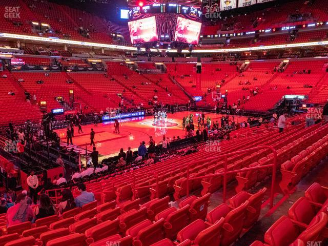 American Airlines Arena Section 121 view