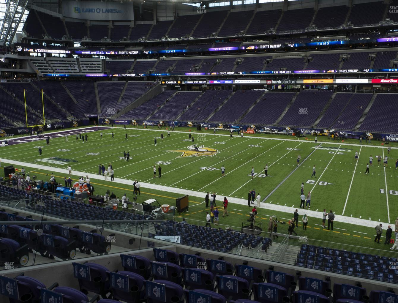 Minnesota Vikings at U.S. Bank Stadium Section 130 View