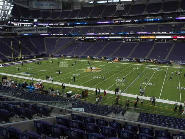U.S. Bank Stadium Section 130 view