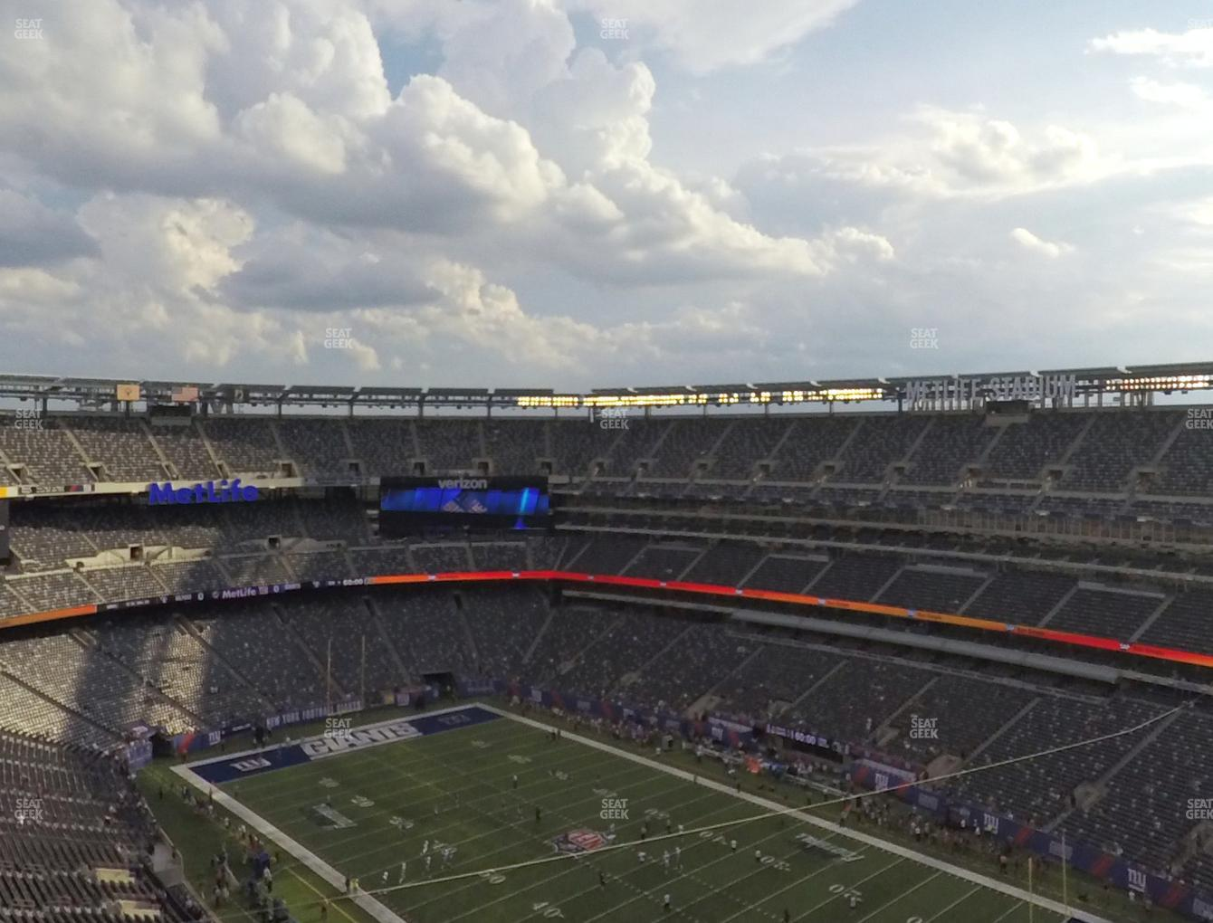 New York Jets at MetLife Stadium Section 307 View