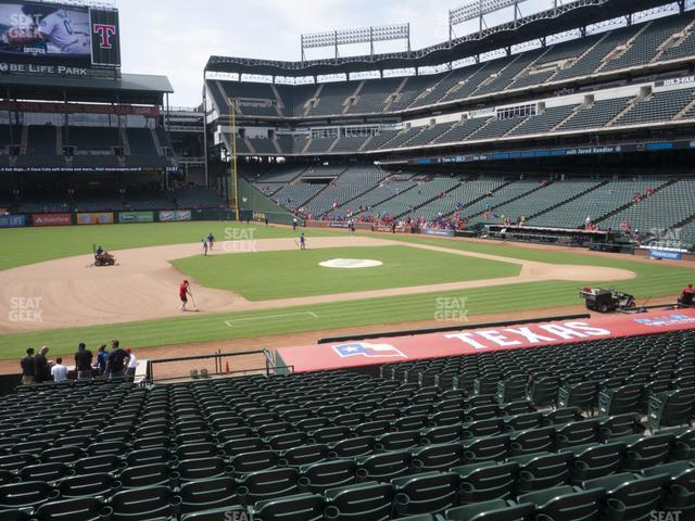 Globe Life Park Section 18 view