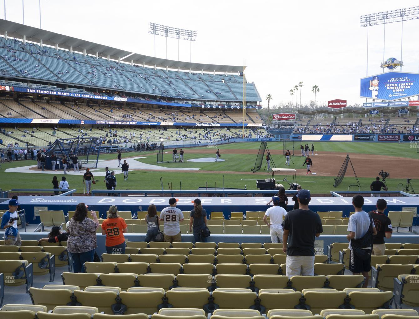 Los Angeles Dodgers at Dodger Stadium Field Box 20 View