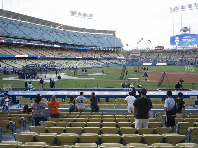 Dodger Stadium Field Box 20 view