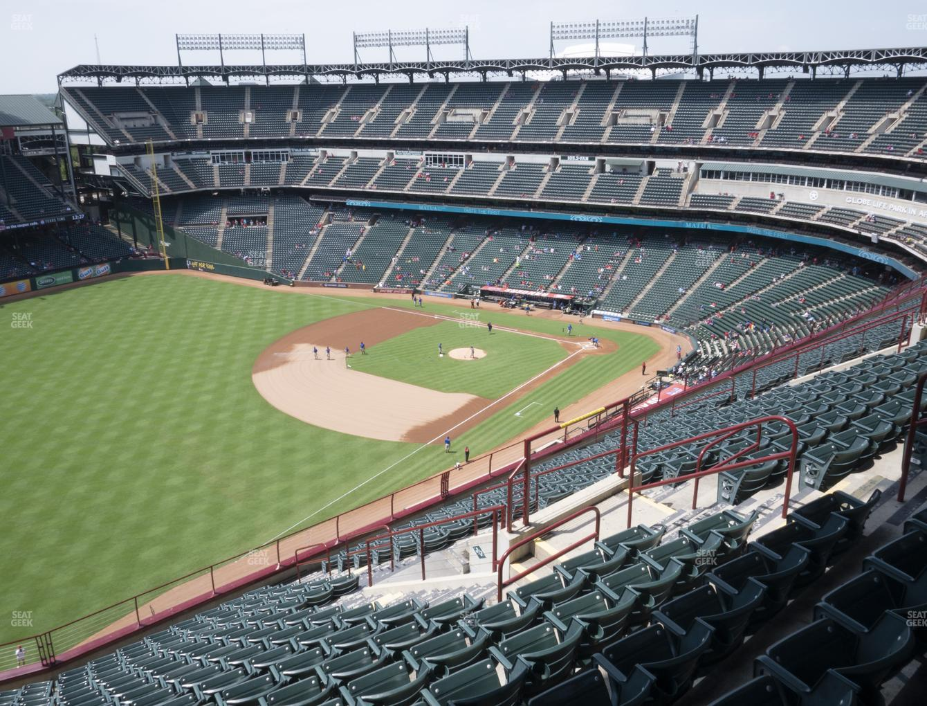 Texas Rangers at Globe Life Park Section 312 View