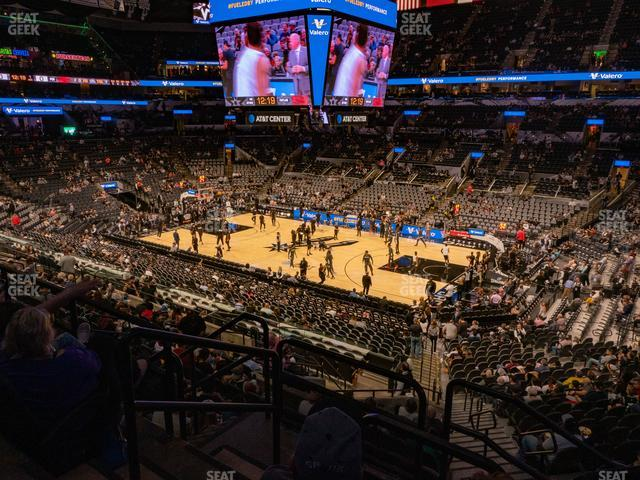 AT&T Center Section 119 view