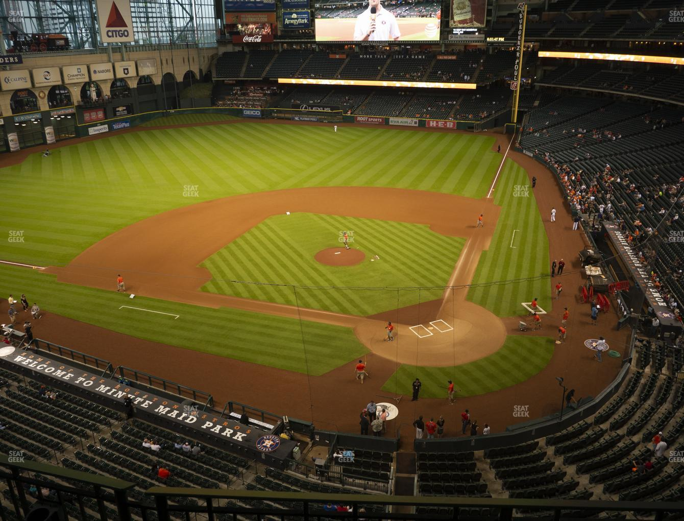 Houston Astros at Minute Maid Park Section 316 View