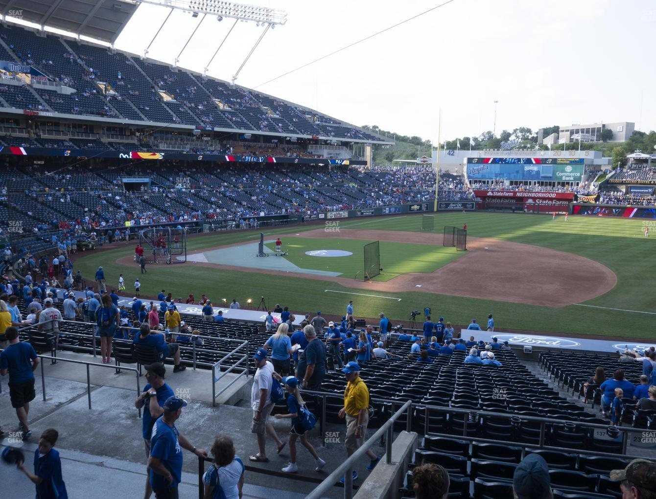 Kansas City Royals at Kauffman Stadium Section 237 View
