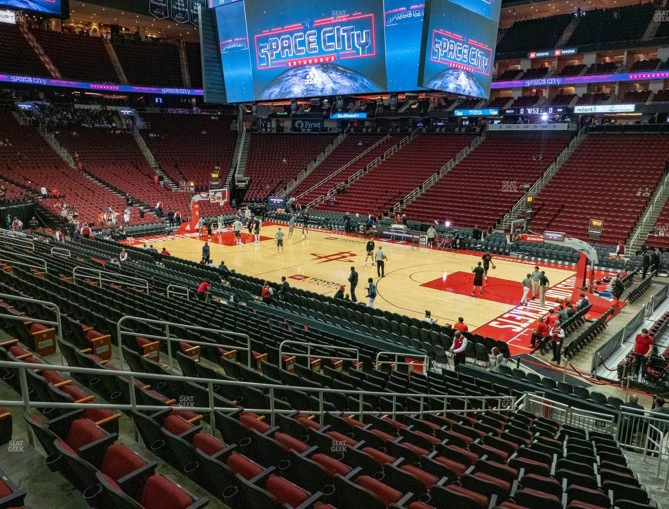 Houston Rockets at Toyota Center Section 104 View