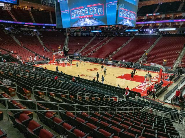 Toyota Center Section 104 view