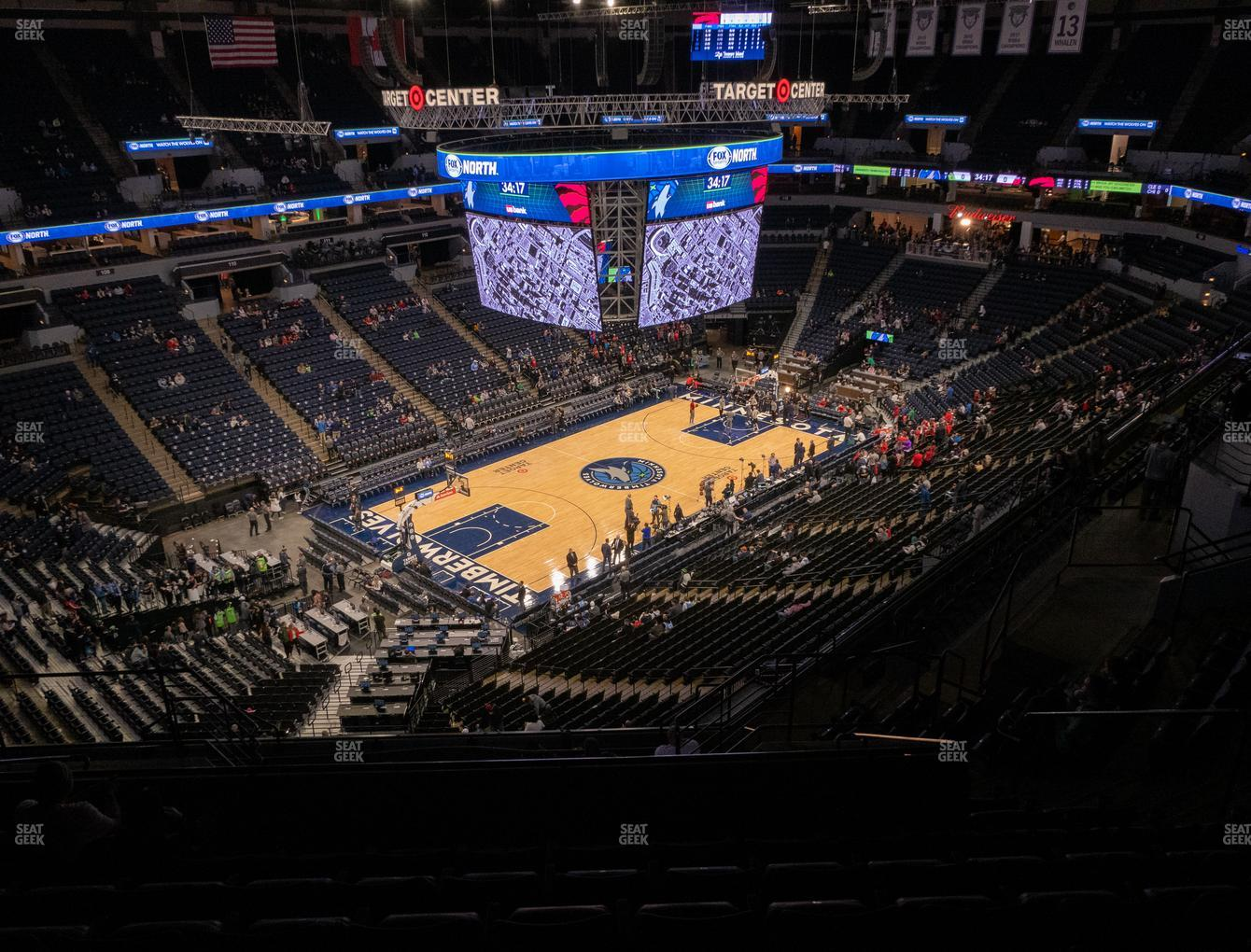 Minnesota Lynx at Target Center Section 236 View