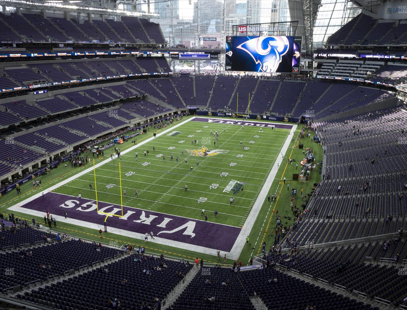 Minnesota Vikings at U.S. Bank Stadium Section 323 View
