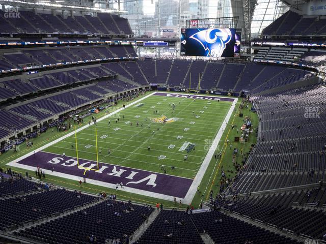 U.S. Bank Stadium Section 323 view