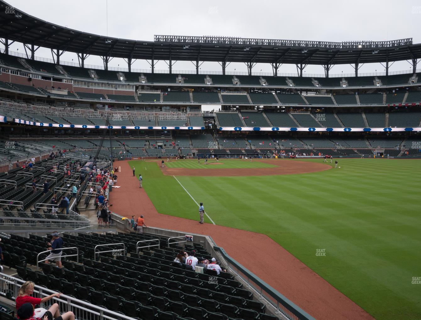 Atlanta Braves at SunTrust Park Section 107 View