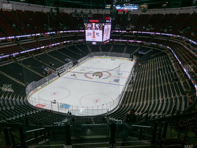 Honda Center Section 442 view
