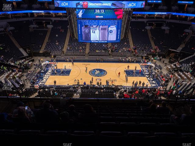 Target Center Section 231 view