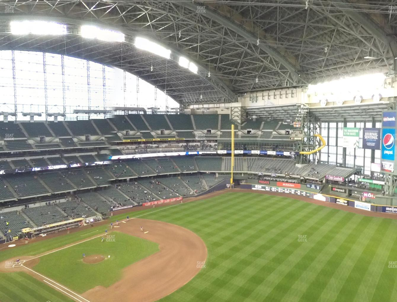 Milwaukee Brewers at Miller Park Section 409 View