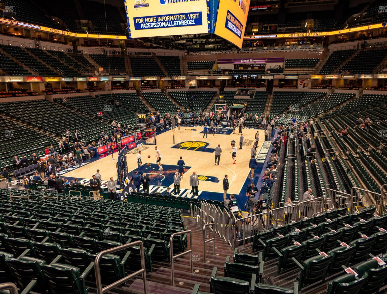 Indiana Pacers at Bankers Life Fieldhouse Section 19 View