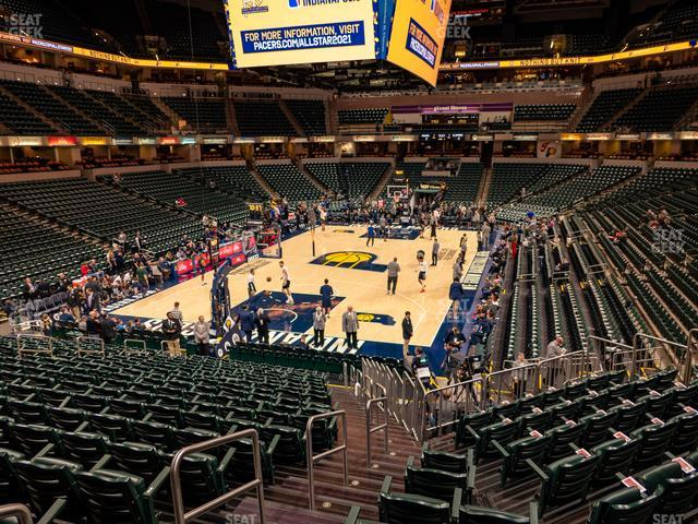 Bankers Life Fieldhouse Section 19 view