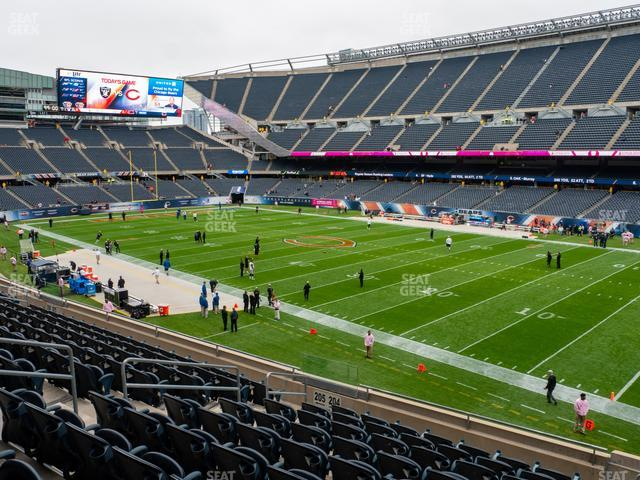 Soldier Field Section 204 view