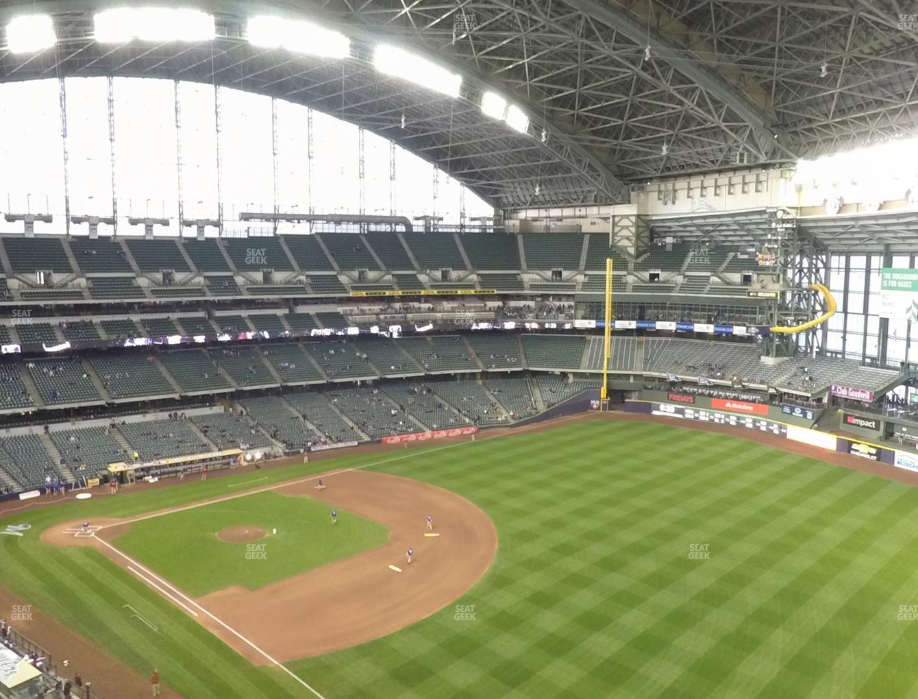 Milwaukee Brewers at Miller Park Section 408 View