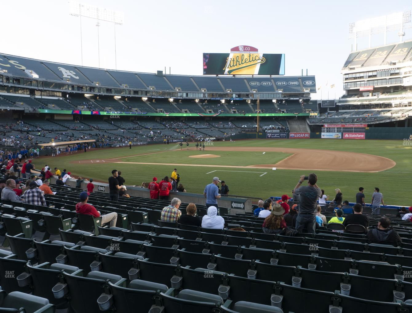 Oakland Athletics at RingCentral Coliseum Section 111 View