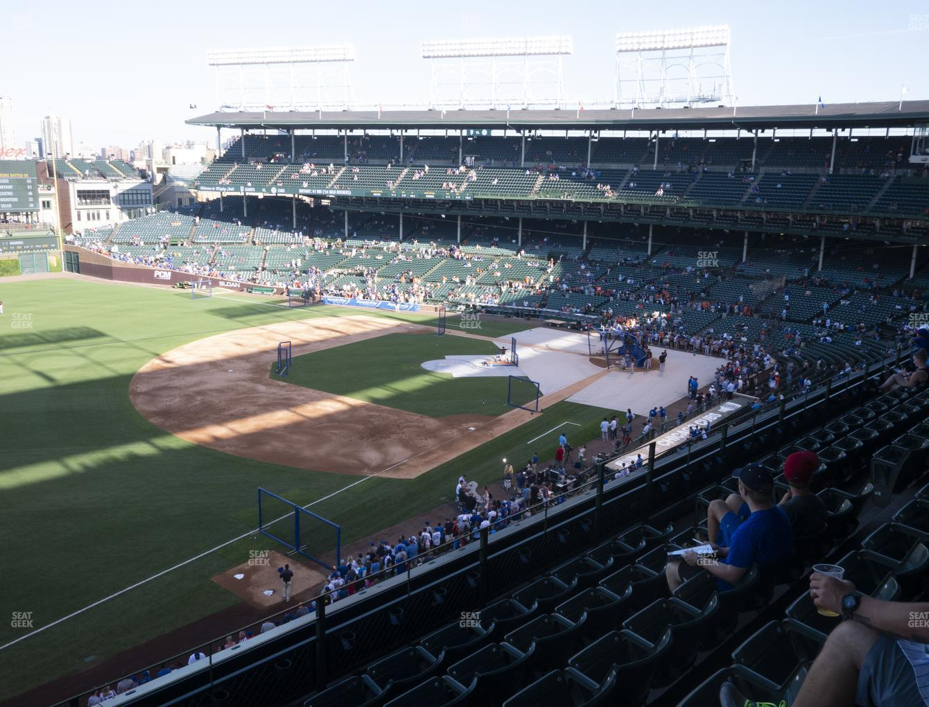Chicago Cubs at Wrigley Field Section 306 Left View