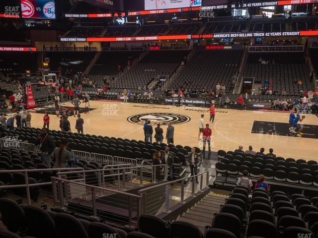 State Farm Arena Section 107 view