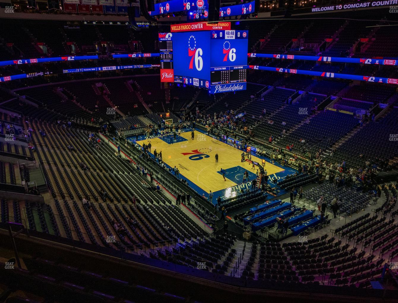 Philadelphia 76ers at Wells Fargo Center Section 217 View