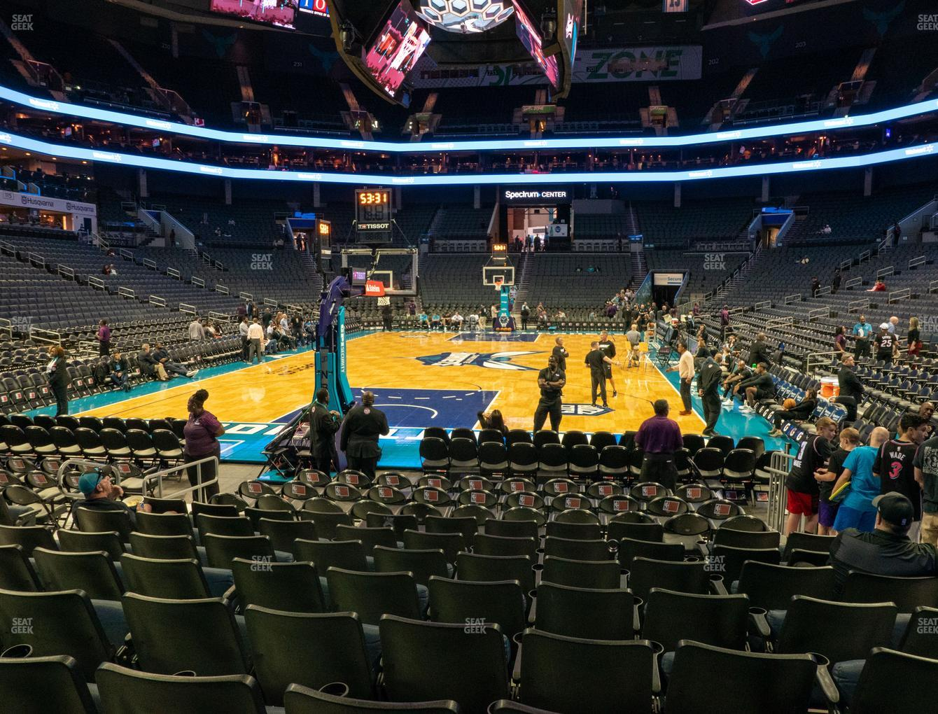 Charlotte Hornets at Spectrum Center Section 109 View