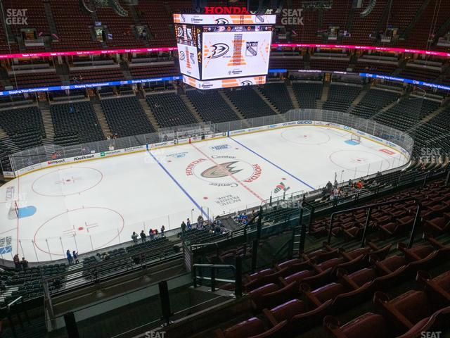 Honda Center Section 414 view