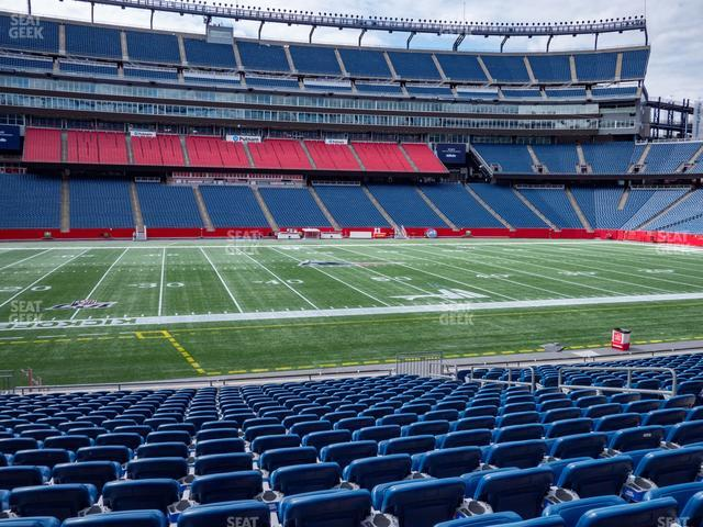 Gillette Stadium Section 111 view