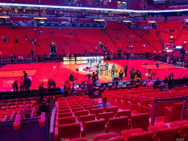 American Airlines Arena Section 119 view